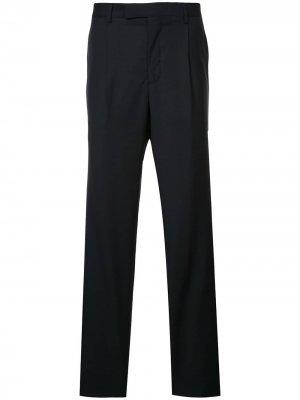 Классические приталенные брюки Gieves & Hawkes. Цвет: синий