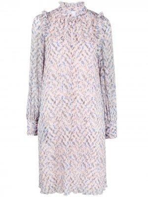 Платье-туника с абстрактным узором Lala Berlin. Цвет: розовый