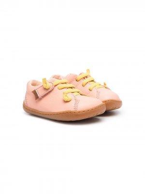 Туфли на шнуровке с контрастными вставками Camper Kids. Цвет: розовый