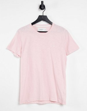 Розовая футболка с логотипом -Розовый цвет Abercrombie & Fitch