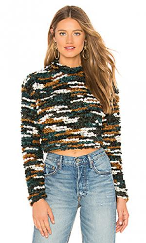 Пуловер sarah Tularosa. Цвет: темно-зеленый