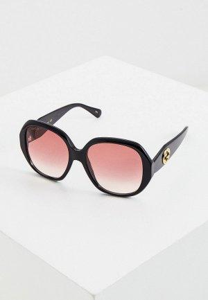 Очки солнцезащитные Gucci GG0796S. Цвет: черный