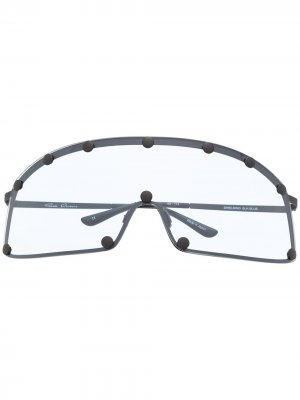 Солнцезащитные очки Rick Owens. Цвет: синий