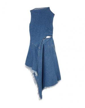 Платье до колена 7 FOR ALL MANKIND. Цвет: синий