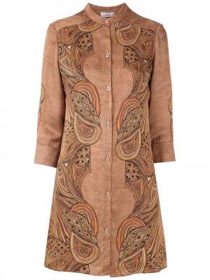 Платье-рубашка Amir Slama. Цвет: коричневый