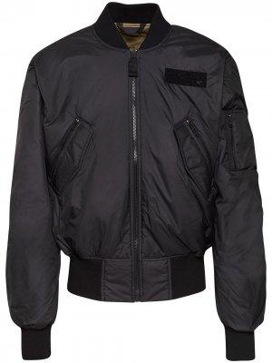 Двусторонняя куртка-бомбер из коллаборации с Parley adidas. Цвет: черный