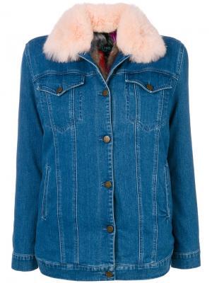 Джинсовая куртка Mr & Mrs Italy. Цвет: синий