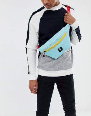 Голубая сумка-кошелек на пояс с контрастным ремешком -Синий Jack & Jones