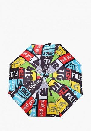 Зонт складной PlayToday. Цвет: разноцветный