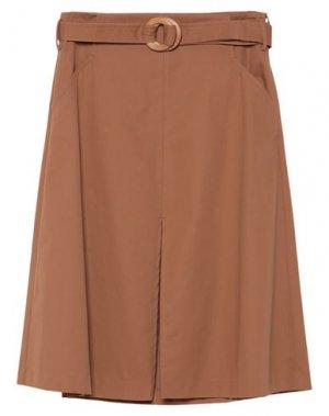Юбка длиной 3/4 EMMA & GAIA. Цвет: коричневый