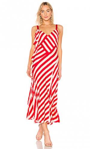 Макси платье JILL STUART. Цвет: красный