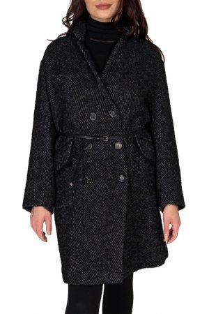 Пальто High. Цвет: серый