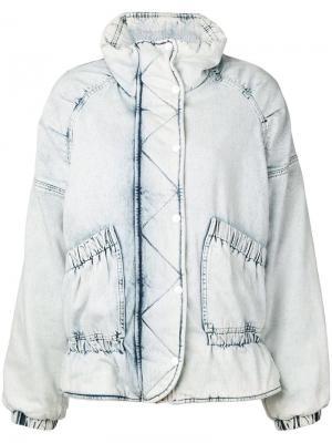 Джинсовая куртка с линялым эффектом Golden Goose Deluxe Brand. Цвет: синий