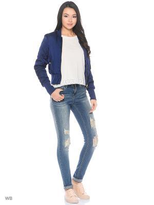Бомбер Vero moda. Цвет: синий
