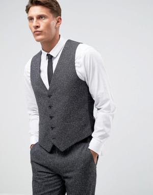 Облегающий жилет Farah winter wedding Smart. Цвет: серый