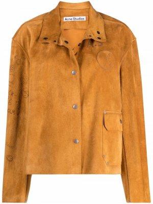 Куртка с логотипом Acne Studios. Цвет: желтый