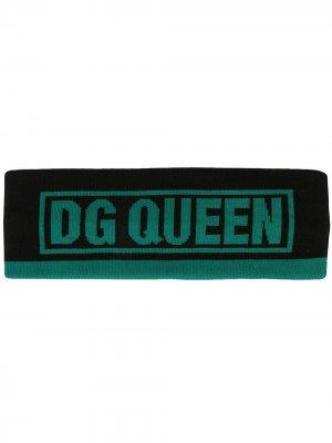 Трикотажная повязка на голову Dolce & Gabbana. Цвет: черный