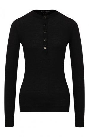 Пуловер из смеси кашемира и шелка Tom Ford. Цвет: черный
