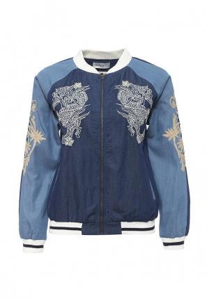 Куртка джинсовая Desigual. Цвет: синий