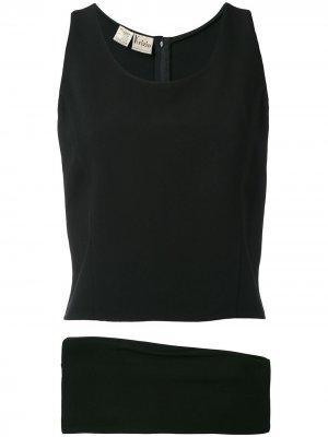 Комплект 1970-х годов выпуска Krizia Pre-Owned. Цвет: черный