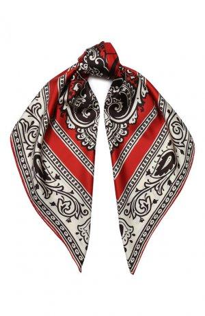 Шелковый платок Elie Saab. Цвет: красный