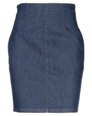 Джинсовая юбка BLUMARINE. Цвет: синий