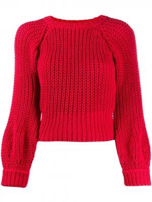 Джемпер фактурной вязки Maison Flaneur. Цвет: красный