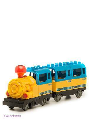 Железная дорога Голубая стрела. Цвет: желтый, синий, зеленый, красный