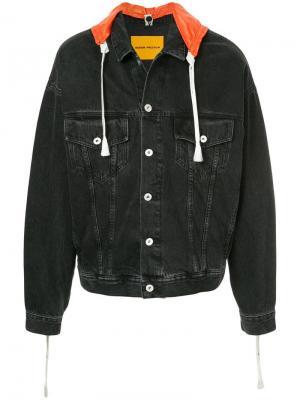 Джинсовая куртка с капюшоном Heron Preston. Цвет: black