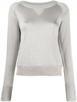 Пуловер с эффектом металлик и круглым вырезом Missoni. Цвет: серебристый