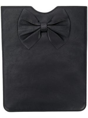 Чехол для планшета с бантом RedValentino. Цвет: черный