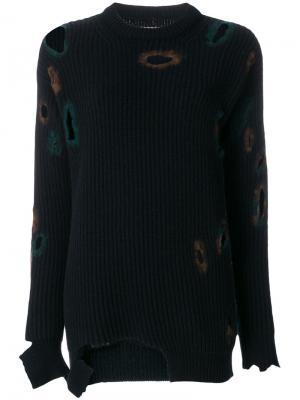 Состаренный свитер Ballantyne. Цвет: синий
