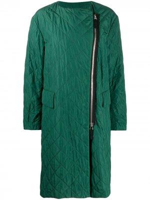 Стеганое пальто оверсайз 2000-х годов Dries Van Noten Pre-Owned. Цвет: зеленый