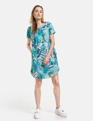 2211-485001-66484 Платье женское (size 38, color GREEN/BLUE PRINT; code 5089) GERRY WEBER. Цвет: мультиколор