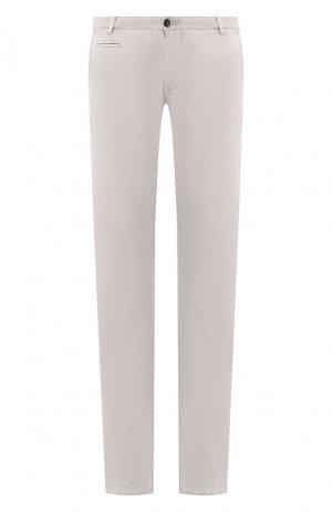 Хлопковые брюки Baldessarini. Цвет: серый