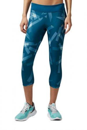 Тайтсы Rs 3/4 Q3 Ti W adidas. Цвет: синий
