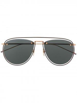 Солнцезащитные очки-авиаторы TB-S113 Thom Browne Eyewear. Цвет: золотистый