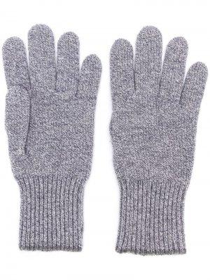 Перчатки с контрастной отделкой Brunello Cucinelli. Цвет: серый