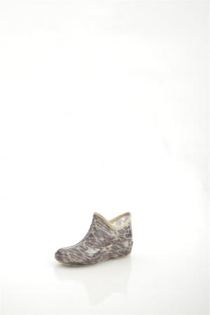 Резиновые полусапоги BRIS. Цвет: коричневый