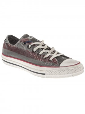 Lo-top striped sneaker Converse. Цвет: красный