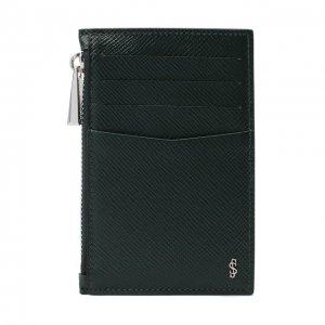 Кожаный футляр для кредитных карт Serapian. Цвет: зелёный