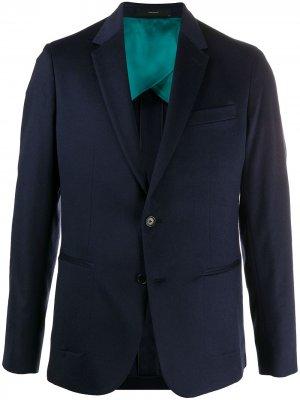 Пиджак на двух пуговицах Paul Smith. Цвет: синий