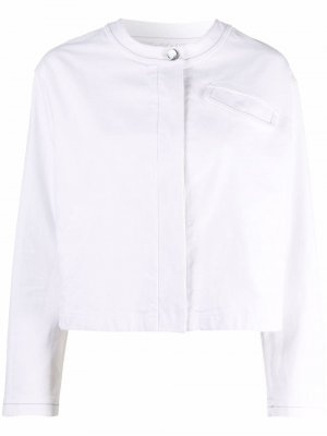 Джинсовая куртка без воротника Malo. Цвет: белый