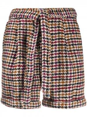 Клетчатые шорты Madison с завязками Steffen Schraut. Цвет: коричневый