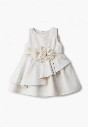 Платье MiLi. Цвет: бежевый