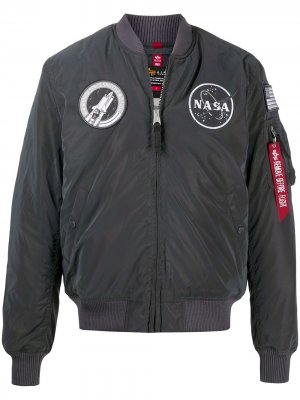 Бомбер NASA Alpha Industries. Цвет: серый
