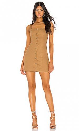 Платье andi Tularosa. Цвет: коричневый