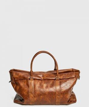 Дорожная сумка из искусственной кожи O`Stin. Цвет: коричневый