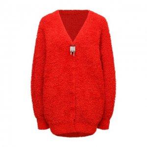 Хлопковый кардиган Givenchy. Цвет: красный