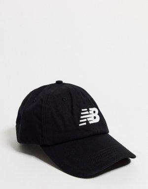 6-панельная кепка с изогнутым козырьком -Черный New Balance